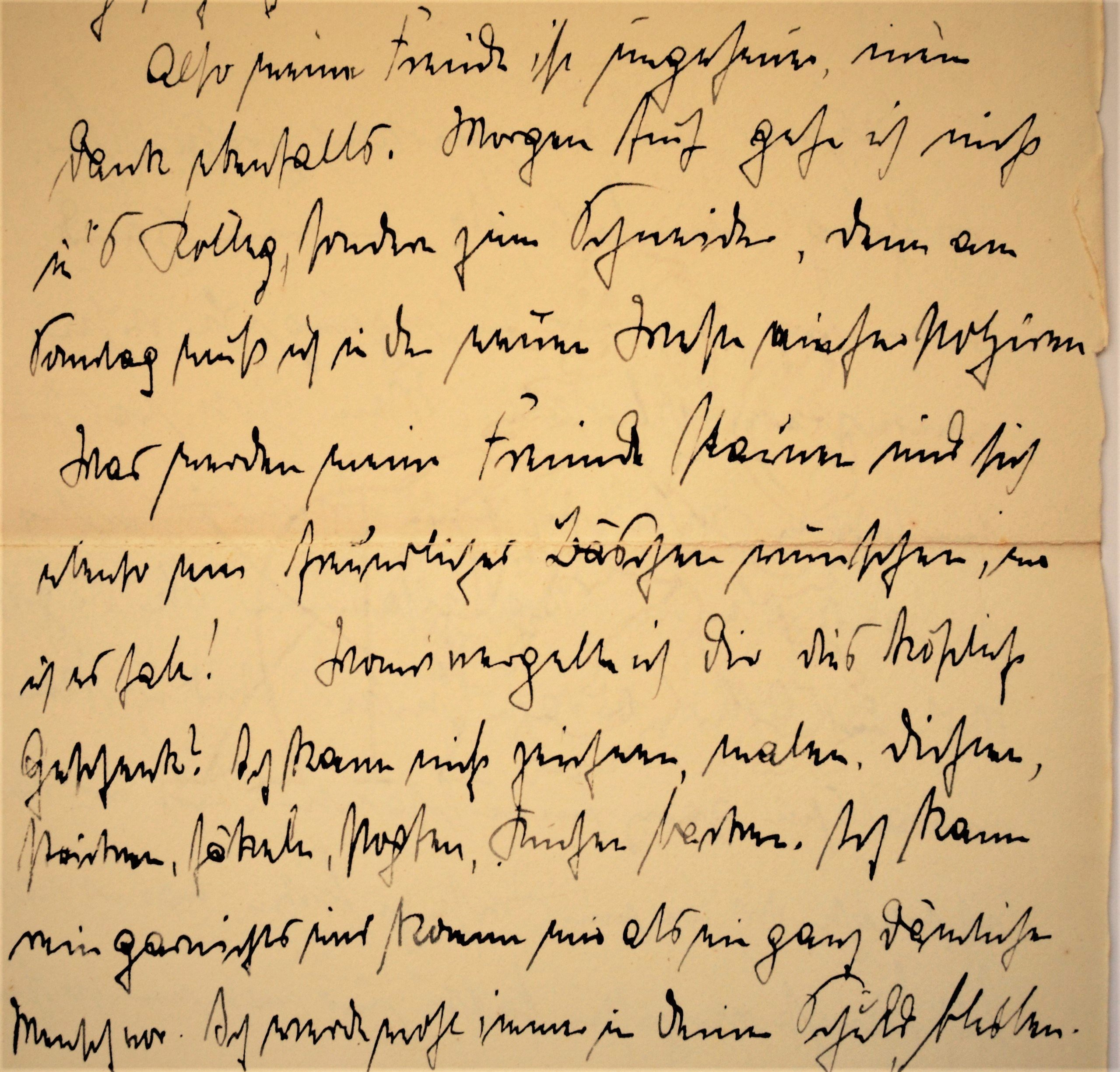 Old letter, manuscript, German forms of cursive, Kurrentschrift, 1907