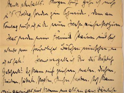 Old letter, manuscript, German forms of cursive, Kurrentschrift, 1907