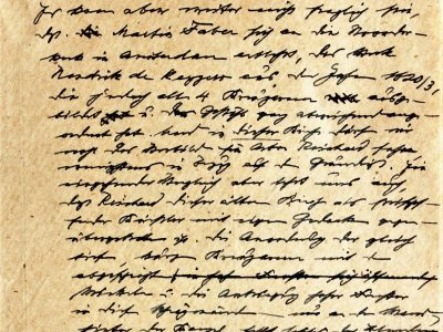 Old German handwritten document, letter, transcription, Kurrentschrift