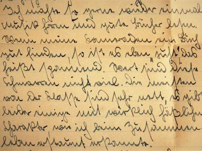 field post letter, German forms of cursive, Deutsche Volksschrift, transcription, 1941